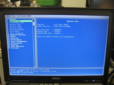 DELL LATITUDE D620 INTEL CORE 2 DUO 2.0GHz CPU 1.5GB RAM DVD+/ RW
