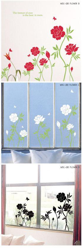 FLOWER VINE & BUTTERFLY Home Decor Wall Art Sticker Vinyl Decal VG 280