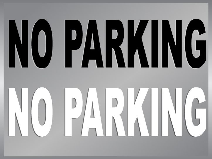 NO PARKING sign cut vinyl decal sticker door signage