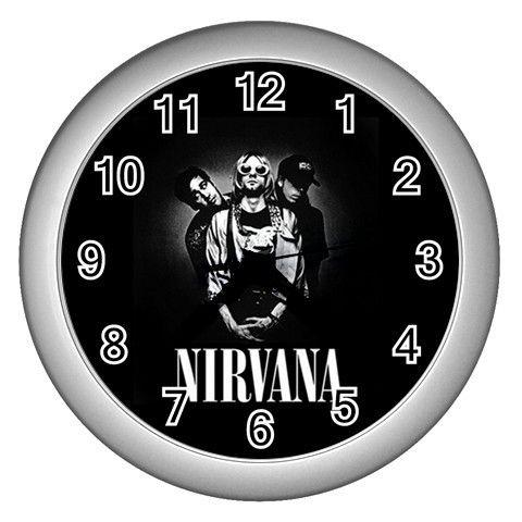 Kurt Cobain Nirvana Wall Clock Silver GIFT DECOR COLLE
