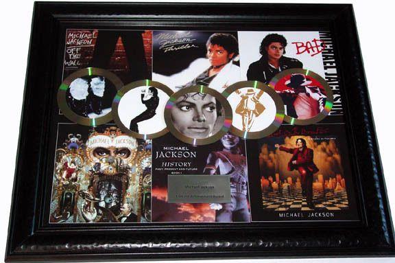 Michael Jackson Thriller Gold Platinum Record Award Display non